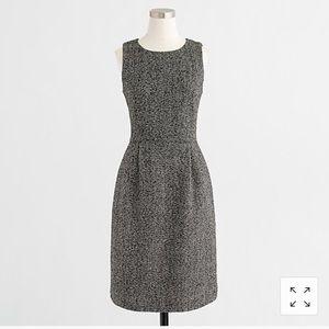 Grey J Crew Pleated Dress - 0